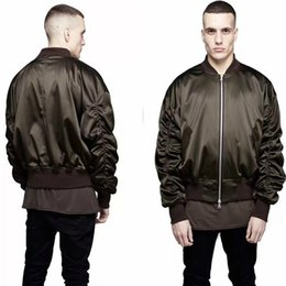 Wholesale L Style Flights - Cool Exclusive Newest MA1 Bomber Jacket 2017 Fashion Men Military Style Solid Color Represent Hip Hop Flight Jackets