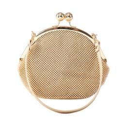 Wholesale Satin Purse Mini - Wholesale- Ladies Mini Gold Rhinestone Hand Bags Silver Evening Clutch Dinner Party Purse Luxury Bridal Wedding Handbag bolso mujer XA784H
