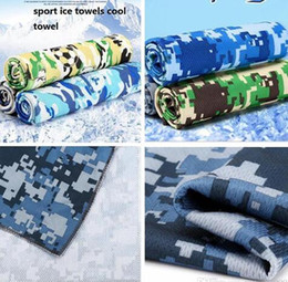 Wholesale Sports Towel Pva - 6 colors Camouflage Ice cooling Towels Camo Utility Enduring Instant Cooling Towel Cool Towel Outdoor Sports Yoga Fitness Hand Towels