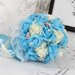 Розовый свадебный букет цветы с ручной работы цветы пены Розы искусственные свадебные букеты элегантный свадебный Холдинг цветы фрейлина Бук от