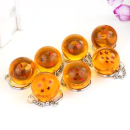 Wholesale Keyring Stars Wholesale - 2.5cm Dragon Ball Z 7 Stars Crystal Balls Keychain Pendant Keyring 1 2 3 4 5 6 7 stars gifts NC032