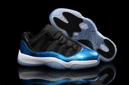 Wholesale Snake Skin Men Shoes - Hot sale top quality retro 11s low snake skin black Gamma blue space jam mens basketball shoes athletics sneakers fashion shoes