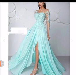 Wholesale One Shoulder Feather Homecoming Dress - Light Blue Evening Dress Long Formal Dresses Long Evening Gowns Elegant Chiffon Party Dress EM11