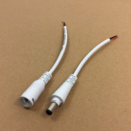 Wholesale Lead Jacket - PVC Male & Female 300mm White DC LED Cable for LED Driver Easy Connection Jacket Strip Joint