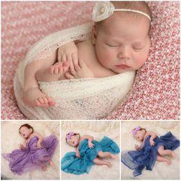 Wholesale Mohair Wraps - newborn props photography swaddle newborn mohair wrapped cloth props accessories yarn birthday gift DHL free wholesale