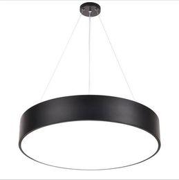 Moderne Minimalisme LED Pendentif Lumière Lustres Ronds Appareils D'éclairage Noir pour Bureau Salle D'étude Salon Chambre AC85-265V ? partir de fabricateur