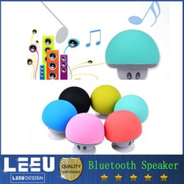 Wholesale Usb Pc Bracket - Portable Bluetooth Speaker Wireless Handsfree mini Mushroom Speaker With Sucking Disc Bracket hard pc with retail package