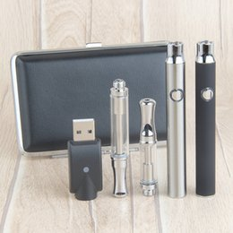 Wholesale Plastic Cartridge Cases - Wholesale Ceramic CE3 vape 350mAh 510 thread preheating variable voltage battery SS Glass wee d oil Vape Cartridges metal case starter kit