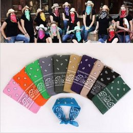 Wholesale Hip Hop Wristbands - Novelty Cycling Magic Anti-UV Headband 100% Cotton Paisley Design Scarf Hip Hop Multifunctional Bandana Wristband Headscarf CCA6204 10000pcs