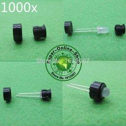 Wholesale Plastic Panels - Wholesale- 1000 x 5mm Plastic Black LED Holder Plastic ABS LED Bezel Holders Panel Display For 5mm LEDs Light-emitting Diodes High Quality