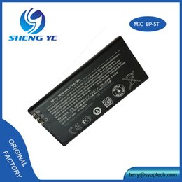 Wholesale Oem Battery Cell Phone - Mobile phone 100% Original OEM Cell phone Battery BP-5T For Nokia Lumia 820 825 Batteries 1650mAh