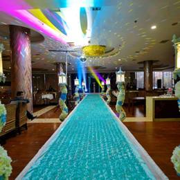 Matrimonio di lusso arrivo Centrotavola di favori 3D Rose Petal Carpet Aisle Runner per la decorazione del partito per nozze 10 colori da trim per torte nuziali fornitori