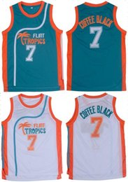 Wholesale Cool Basketball Shirts - Men's T-Shirts #7 Throwback Basketball Jerseys Stitched Retro Movie Jersey Cool Shirt Jackie Moon Flint Tropical Man White Green Street