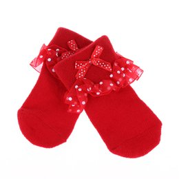 Wholesale Cute Shoes For Toddler Girls - Wholesale- 1 Pair Cute Toddlers Infants Cotton Ankle Bow Socks Baby Girls Princess Bowknots Socks Lace Floral Shoes for 0-5 Months
