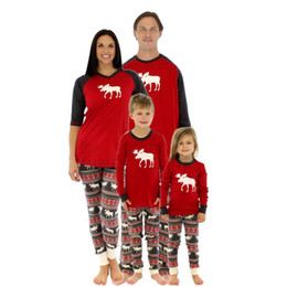 Wholesale Mother Son Clothes - Christmas Pajamas Family Clothing 2017 Family Matching Mother Daughter Father Son Clothes Clothing Sets Family Style reindeer Set
