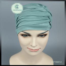 Wholesale Wholesale Chemo Hats - New Full Head Cover Head Turban Head Wrap Hair Loss Chemo Hat women Bandana Scarf Turban