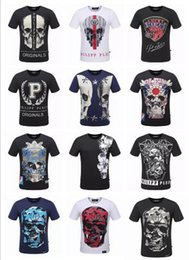 Wholesale Germany Army - Germany NEW top quality men 3d t shirt summer P brand cotton short sleeve t-shirt fashion skull &horse printed Men's t-shirt tee 25 style 3X