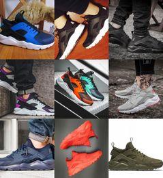 2019 zapatillas marrones New Brown Air Huarache ID Hombres y mujeres Zapatillas deportivas Huaraches Sneakers Run Tech Huraches Calzado deportivo zapatillas marrones baratos