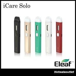 Wholesale Metal Solos - Authentic Eleaf iCare Solo Starter Kit with 320mAh Built-in Battery & 1.1ml Tank & Eleaf iCare 140 Starter Kit 100% Original