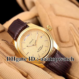 Wholesale Best Selling Leather Watches - HOT selling! NEW High quality Luxury brand watch 39mm week-day 560068 leather strap men watches Automatic watch Mens best sport Watches TU-4