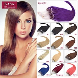 Wholesale 16 Inch Ring - Wholesale- Black More Color Straight 16inches 40cm 40grams Micro Loop Ring Hair Extensions Real Human Natural Hair Suitable For Shor Hair