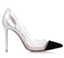 western-fersen Rabatt 2017 Western Style Damen Schuhe Frühling und Sommer Neue Transparente Silber Schaffell Flacher Mund Spitz Bankett High Heels Schuhe