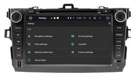 Wholesale Toyota Corolla Car Audio - 8-Core 8 inch Android 6.0 Car Dvd Gps Navi Audio for Toyota Corolla 2006-2011 HD1024*600 1080P 2GB 32GB nand Wifi STEERING WHEE