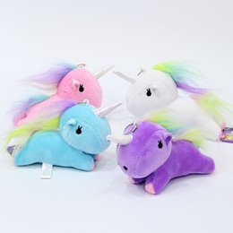 Wholesale Game Television - Color Unicorn toys, animation, peripheral games, film and television cartoon, cute rainbow, unicorn dolls, pendants, dolls, dolls, gifts