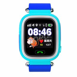 Wholesale Baby Positioning - GPS Q90 kids Watch Touch Screen WIFI Positioning Smart Watch Children SOS Call Location Finder Device Antt Baby Monitor retail package 30pcs
