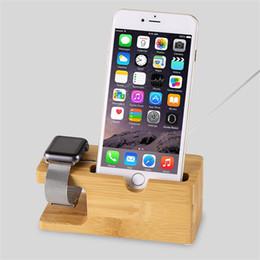 Chargeur de téléphone portable Dock avec montre Support de bureau en bois de bambou Support de chargement en bois pour Apple Watch 2 38mm 42mm pour iPhone 6 7 plus ? partir de fabricateur