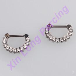 Wholesale G23 Titanium - 16G Ear Cartilage Helix Tragus Stud Nose Ring Septum Clicker Piercing Body Jewelry G23 Titanium