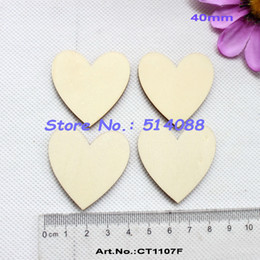 Wholesale Wholesale Unfinished Wood Crafts - Wholesale- (120pcs lot) Unfinished wooden heart love crafts suppliers cutout rustic wood wedding embellishment -CT1107F