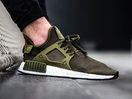 Wholesale Cheap Men Sneakers Online - NMD XR1 Olive green boost Primeknit PK for men women NMDS XR1 runner Sports Running Shoes sneakers Size 36-45 cheap online for sale