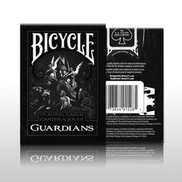 Wholesale Bicycle Playing Cards Free Shipping - Free shipping Bicycle Guardians Playing Cards By Theory11 Black Magic Cardistry Deck Guardian Magic Tricks Magic Props