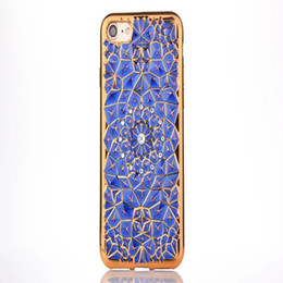 Wholesale Wholesale Phone Bling Accessories - Luxury 3D Bling Diamond Sunflower Plating TPU Back Fundas Phone Accessories Case Cover For iphone 7 7plus 6 6s 6plus 6s