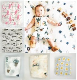 Wholesale Babies Bath Towels - Baby Muslin Swaddles Organic Cotton Wraps Ins Blankets Nursery Bedding Newborn Ins Swadding Bath Towels Parisarc Robes Quilt Robes