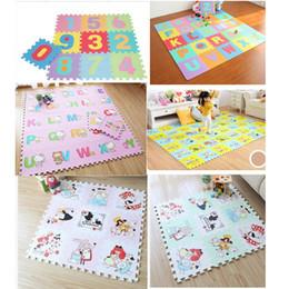 2019 eva puzzle matten Weiche sich entwickelnde kriechende Teppiche der Kinder, Baby-Spiel-Puzzlespiel-Zahl / Buchstabe / Karikatur-Eva-Schaum-Matte, Auflage-Boden für Baby-Spiel-Matten günstig eva puzzle matten