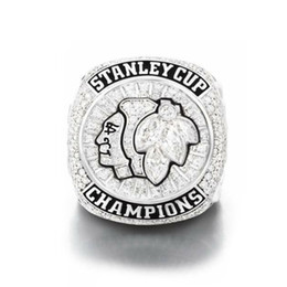 Wholesale Hawk Stone - 2015 stanley cup chicago black hawks world championship ring Toews championship ring