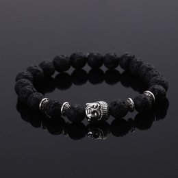 Wholesale Elastic For Jewelry - 2015 Fashion jewelry Natural stone buddha beads bracelet men elastic rope chain charm bracelet for women Pulseras mujer