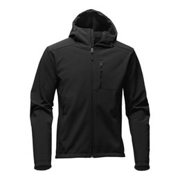 Wholesale Down Ski Jackets Men - Outdoor Winter Men's Hoodies SoftShell Jackets Fashion Apex Bionic Windproof Waterproof Thermal For Hiking Camping Ski Down Sportswear S-XXL