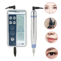 Wholesale tattoo eyeliners - Free Shipping Face Control Permanent Makeup Eyebrow Eyeliner Makeup Forever Digital Tattoo Machine