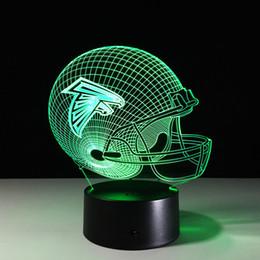 Wholesale Ball Light Table Lamp - Seven Colors Changing Dallas Cowboys Light 3D Visual Led Night Light USB Novelty Dallas Cowboys Table Lamps as Home Decor Besides Lampara 03