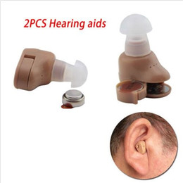 Wholesale Deaf Hearing Aid - New 2 PCS Sound Amplifier Deaf Hearing Aid In-Ear Voice Sound Enhancer