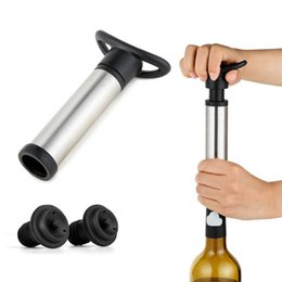 Wholesale Air Pump Bottle - Red Wine Champagne Bottle Preserver Air Pump Stopper Vacuum Sealed Saver Bar Tools Free Shipping 170322