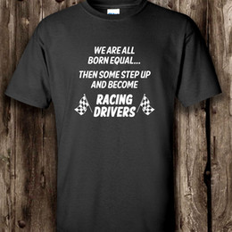 Wholesale Pure Races - Racing Driver Mens T Shirt -- Funny Motor Clothing Banger Stock Rally Cars Printed Pure Cotton Men'S