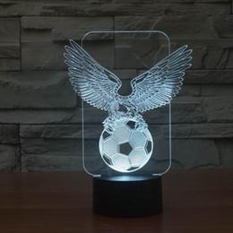 Wholesale Innovative Lights - Wholesale- Innovative Cool Eagle Football 3D LED Night Light Lamp for Decoration Room FS-2980
