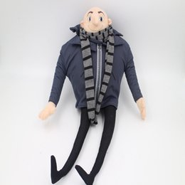 "Wholesale Despicable Gru - Wholesale-1Pc Quality PP cotton 17"" Despicable Me Gru Plush Toy Doll Poseable Lifelike Cute Hot Movie Cartoon for Kids Baby Gifts"