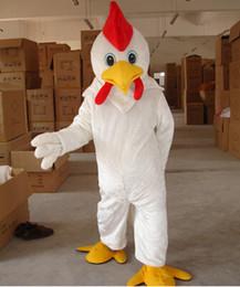 Wholesale Chicken Costume White - Wholesale-Adult Size White Chicken mascot Costume WholeSale price Cock mascot