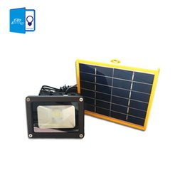 Wholesale Use Wire - Wholesale- [DBF]Waterproof 10W Solar powered LED Flood light with 5M wire+2200mA battery use in outdoor wall lamp outdoor led spot lighting
