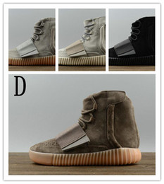 Wholesale Big M Discount - wholesale boost 750 Men and Women Casual Shoes black gray running sport kanye west free shipping size USA 5 11 sneaker big discount